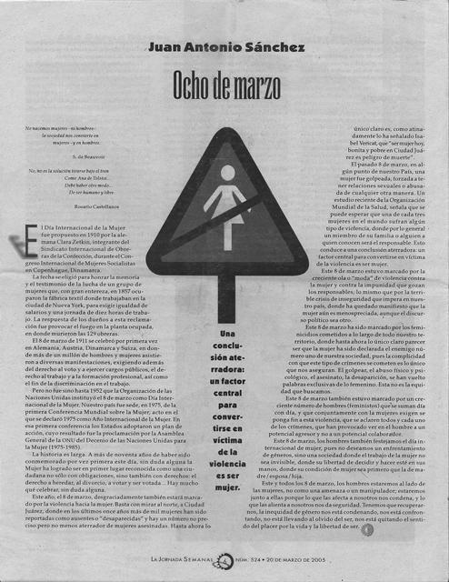 La Jornada Semanal, 20-marzo- 2005